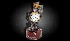 Часы настольные украшенные  О РЫБАКЕ И РЫБКЕ