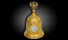 Часы - колокол настольные украшенные  ОТЕЧЕСТВО