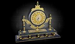 Часы каминные украшенные ПОЛЕТ
