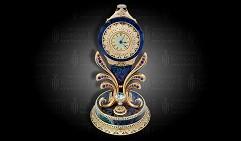 Часы каминные украшенные ШИК Чароит
