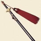 Парад. меч  Тачи ДеЛюкс  ножн. черн, латун, красн. кисть